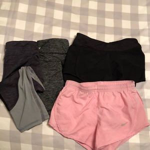 Grouping of girls athletic bottoms